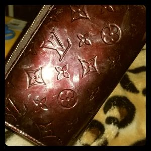 "Louis Vuitton Paris ""Monogram Vernis"" Zip Wallet"